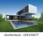 3d render of tropical modern... | Shutterstock . vector #156153677