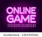vector bright sign online game... | Shutterstock .eps vector #1561545361