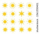 set of sun vector illustration.   Shutterstock .eps vector #1561550401