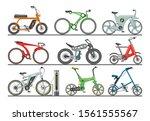 bicycle vector modern e bike...   Shutterstock .eps vector #1561555567