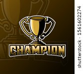 champion trophy mascot gaming... | Shutterstock .eps vector #1561602274