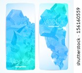set of abstract vector banners. | Shutterstock .eps vector #156160559