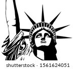 statue of liberty detailed view ...   Shutterstock .eps vector #1561624051