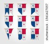 panama flag in various shape | Shutterstock .eps vector #1561627057