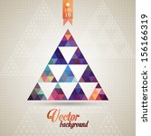 triangle pattern background ... | Shutterstock .eps vector #156166319