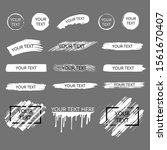 set of hand drawn branding... | Shutterstock .eps vector #1561670407