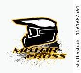 helm motocross logo. riders...   Shutterstock .eps vector #1561687564