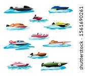 Boat Vector Speed Motorboat...