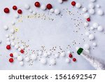 christmas champagne bottle with ... | Shutterstock . vector #1561692547