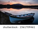 Wooden Fishing Boat Moored In...