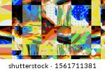 digital effects. vibrant... | Shutterstock . vector #1561711381