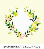 flower frame background design... | Shutterstock .eps vector #1561747171
