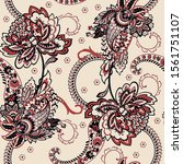 paisley seamless floral pattern.... | Shutterstock . vector #1561751107