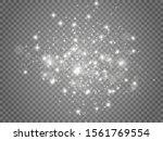 white sparks and golden stars... | Shutterstock .eps vector #1561769554