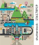vector city info graphic... | Shutterstock .eps vector #156178919