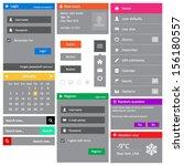 website template  elements ... | Shutterstock .eps vector #156180557