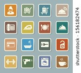 hotel and travel icon set... | Shutterstock .eps vector #156182474