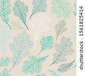 seamless pattern with oak... | Shutterstock .eps vector #1561825414