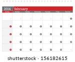 february 2014 planning calendar | Shutterstock .eps vector #156182615