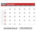 december 2014 planning calendar   Shutterstock .eps vector #156182621