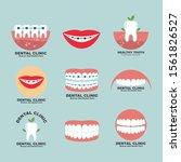 dental clinic icon logo vector... | Shutterstock .eps vector #1561826527