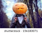 Halloween Pumpkin Head Girl