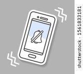 vibration mode mobile phone...   Shutterstock .eps vector #1561833181