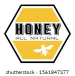 honey bottle label   vector... | Shutterstock .eps vector #1561847377