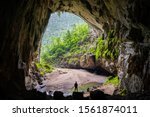 Small photo of Hang En (swallow cave), the entrance to go to Son Doong Cave, the largest cave in the world, is in the heart of the Phong Nha Ke Bang National Park in the Quang Binh province of Central Vietnam