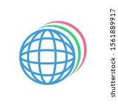 web globe browser icon  modern...
