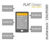 tablet flat design dark theme   ... | Shutterstock .eps vector #156190385