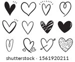 collection set of hand drawn... | Shutterstock .eps vector #1561920211