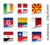 vector set of world sticker... | Shutterstock .eps vector #156192449