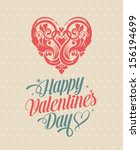 happy valentine's day greeting... | Shutterstock .eps vector #156194699