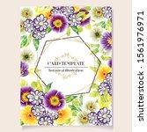 vintage delicate greeting... | Shutterstock .eps vector #1561976971
