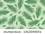 seamless pattern of fir tree... | Shutterstock .eps vector #1562044051