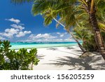 tropical beach with white sand  ... | Shutterstock . vector #156205259