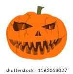 halloween pumpkin vector... | Shutterstock .eps vector #1562053027