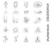 markers illustration. set of... | Shutterstock . vector #1562053414