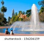 balboa park's water fountain...