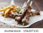 Meat Skewer With Herbs  Lime...