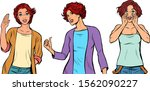 set collection gestures of...   Shutterstock .eps vector #1562090227