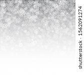 christmas 3d falling snow... | Shutterstock . vector #1562091274