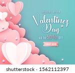valentines day sale background... | Shutterstock .eps vector #1562112397