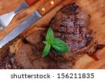Served Beef Meat Barbecue On...