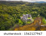 Aerial View Of Dunvegan Castle