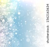 winter frozen background with... | Shutterstock .eps vector #1562163634