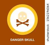 danger skull icon  vector skull ... | Shutterstock .eps vector #1562196064