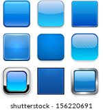 set of blank blue square... | Shutterstock .eps vector #156220691