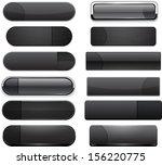 set of blank black buttons for... | Shutterstock .eps vector #156220775